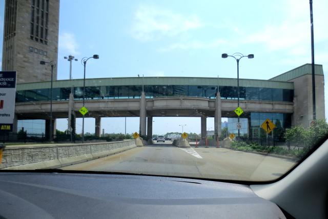 レインボーブリッジの国境越え (4景-2) カナダからアメリカ再入国 Rainbow Bridge, Canada to USA 2013/05/22 Photo by Kohyuh